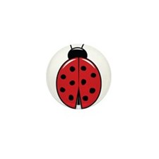 Red Ladybug Mini Button (10 pack)