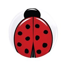 """Red Ladybug 3.5"""" Button"""
