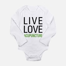Live Love Acupuncture Long Sleeve Infant Bodysuit