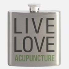 Live Love Acupuncture Flask