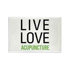 Live Love Acupuncture Rectangle Magnet