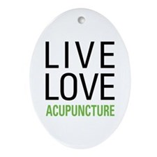 Live Love Acupuncture Ornament (Oval)
