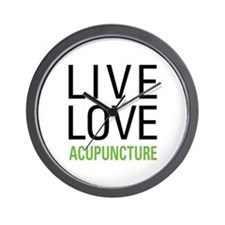 Live Love Acupuncture Wall Clock
