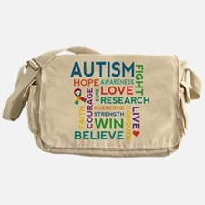 Autism Word Cloud Messenger Bag
