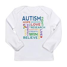 Autism Word Cloud Long Sleeve Infant T-Shirt