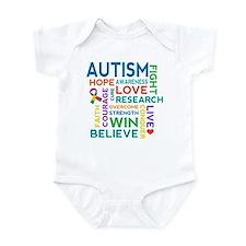 Autism Word Cloud Infant Bodysuit