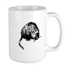 Muskrat Illustration Mugs