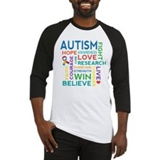 Autism Word Cloud Baseball Jersey