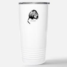 Muskrat Illustration Travel Mug