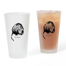 Muskrat Illustration Drinking Glass