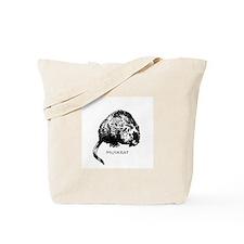 Muskrat Illustration Tote Bag