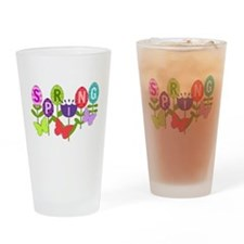 spring eggs Drinking Glass