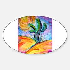 Saguaro cactus, colorful art. Decal