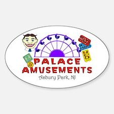 Ferris Wheel Palace Sticker (Oval)