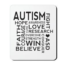 Autism Word Cloud Mousepad