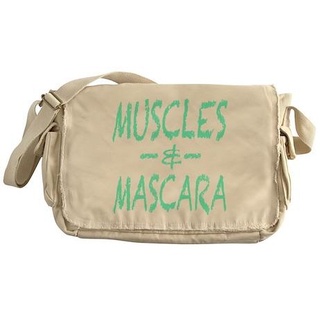 Muscles and Mascara Messenger Bag