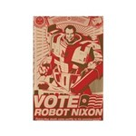 all hail robot nixon Rectangle Magnet