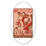 all hail robot nixon Oval Sticker