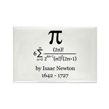 Pi by Sir Isaac Newton Magnets