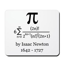 Pi by Sir Isaac Newton Mousepad
