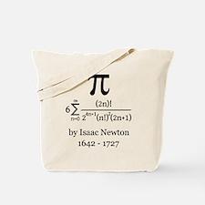Pi by Sir Isaac Newton Tote Bag