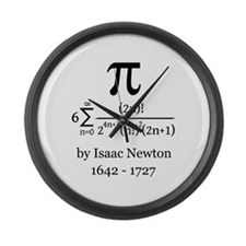 Pi by Sir Isaac Newton Large Wall Clock
