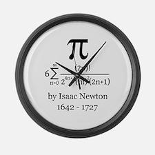 Pi by Sir Isaac Newton Large Wall Clock