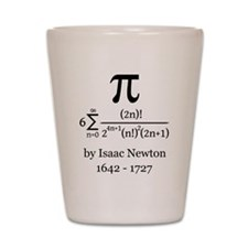 Pi by Sir Isaac Newton Shot Glass