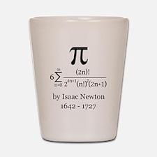 Pi by Sir Isaac Newton Shot Glass