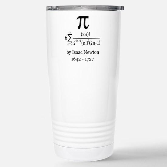 Pi by Sir Isaac Newton Travel Mug