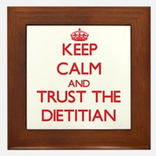 Keep Calm and Trust the Dietitian Framed Tile