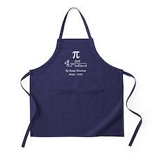 Pi by Sir Isaac Newton Apron (dark)