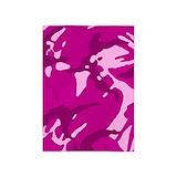 Pink camo 5x7 Rugs