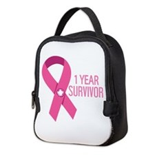 1 Year Breast Cancer Survivor Neoprene Lunch Bag