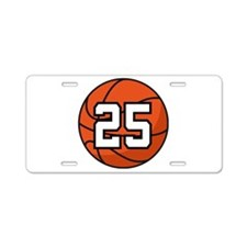 Basketball Player Number 25 Aluminum License Plate