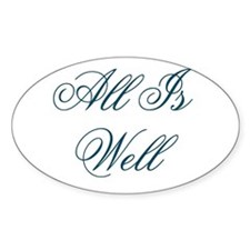 All Is Well Design #437 Oval Decal
