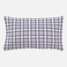 Purple Tartan Pattern Pillow Case