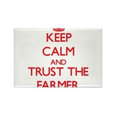 Keep Calm and Trust the Farmer Magnets