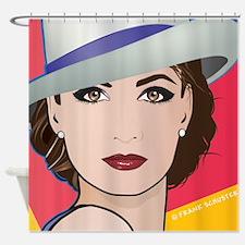 Pop Art Woman Ingrid Shower Curtain