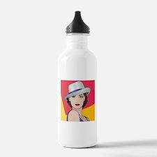 Pop Art Woman Ingrid Water Bottle