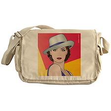 Pop Art Woman Ingrid Messenger Bag