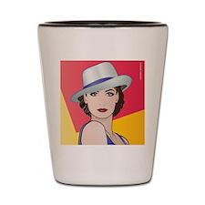Pop Art Woman Ingrid Shot Glass
