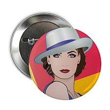 "Pop Art Woman Ingrid 2.25"" Button (10 pack)"