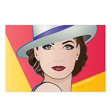 Pop Art Woman Ingrid Postcards (Package of 8)