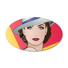 Pop Art Woman Ingrid Wall Decal