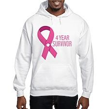 Breast Cancer 4 Year Survivor Jumper Hoody