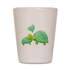 Turtle Hugs Shot Glass