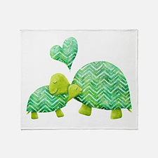 Turtle Hugs Throw Blanket