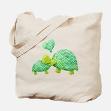 Turtle Hugs Tote Bag