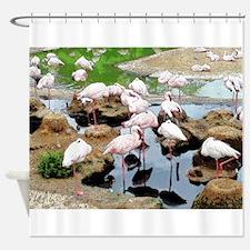 Flamingo City Shower Curtain